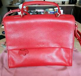 Red Leather Radley Handbag