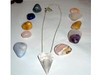 Crystal Pendant and Loose Crystals Bundle