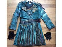 Disney Decendant Uma Jacket, Gloves and Dress size 11-12 year old in excellent condition