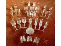 Cristal glasses and decanter Cristal d'arques