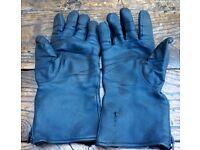 Vintage BMW leather Motorbike gloves