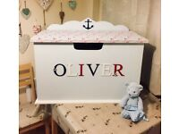 Custom made personalised toy boxes