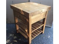 Solid Oak Kitchen Island, New / Unused, Price Reduced !!