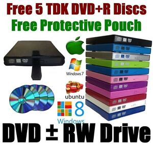 External USB 2.0 CD RW DVD±RW (±R DL) Dual Layer Drive Writer Burner Player - UK