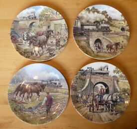 4 Farmyard Commemorate Wall Plates with Certificates ideal present Wedgwood