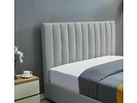 PLUSH VELVET DOUBLE & KING SIZE LUCY STORAGE BED FRAME OPT MATTRESS