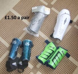 shin pads for football or other sports £1.50 a pair or £5 the lot
