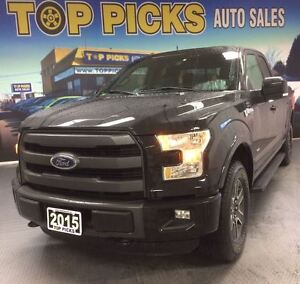 2015 Ford F-150 LARIAT SPORT, NAVI, LEATHER, FX4, 27, 000 KMS!