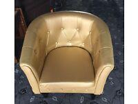 Golden tub chair £40