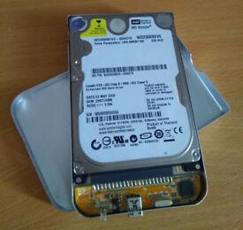 External 250gb 2.5 inch Sata hard drive