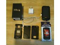 Samsung s2 smart phone unlocked black plus accessories