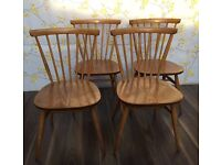 4 Beautiful Ercol dining chairs, great condition