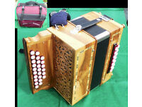 Hand-built High-Quality D-G Melodeon - Two-and-a-half row - 25/14 button