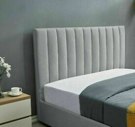💖STYLISH & COMFORTABLE🔵PLUSH VELVET DOUBLE SIZE LUCY STORAGE BED FRAME OPT MATTRESS