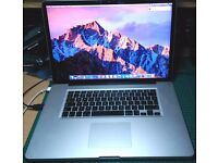 "Macbook Pro - i7 2.4ghz - 4GB Ram - 750GB HDD - 17"" Screen with Charger"
