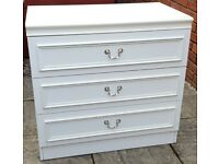 chest of 3 drawers. In used but good clean condition.