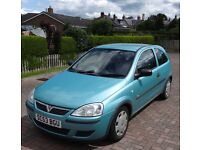 Vauxhall CORSA 1.2 Semi Automatic 2004 3dr, Only 50,000 genuine miles. MOT Oct 2017. Lady Owner