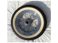 "Harley Davidson Front 16"" Chrome OEM Wheel 1 inch axle"
