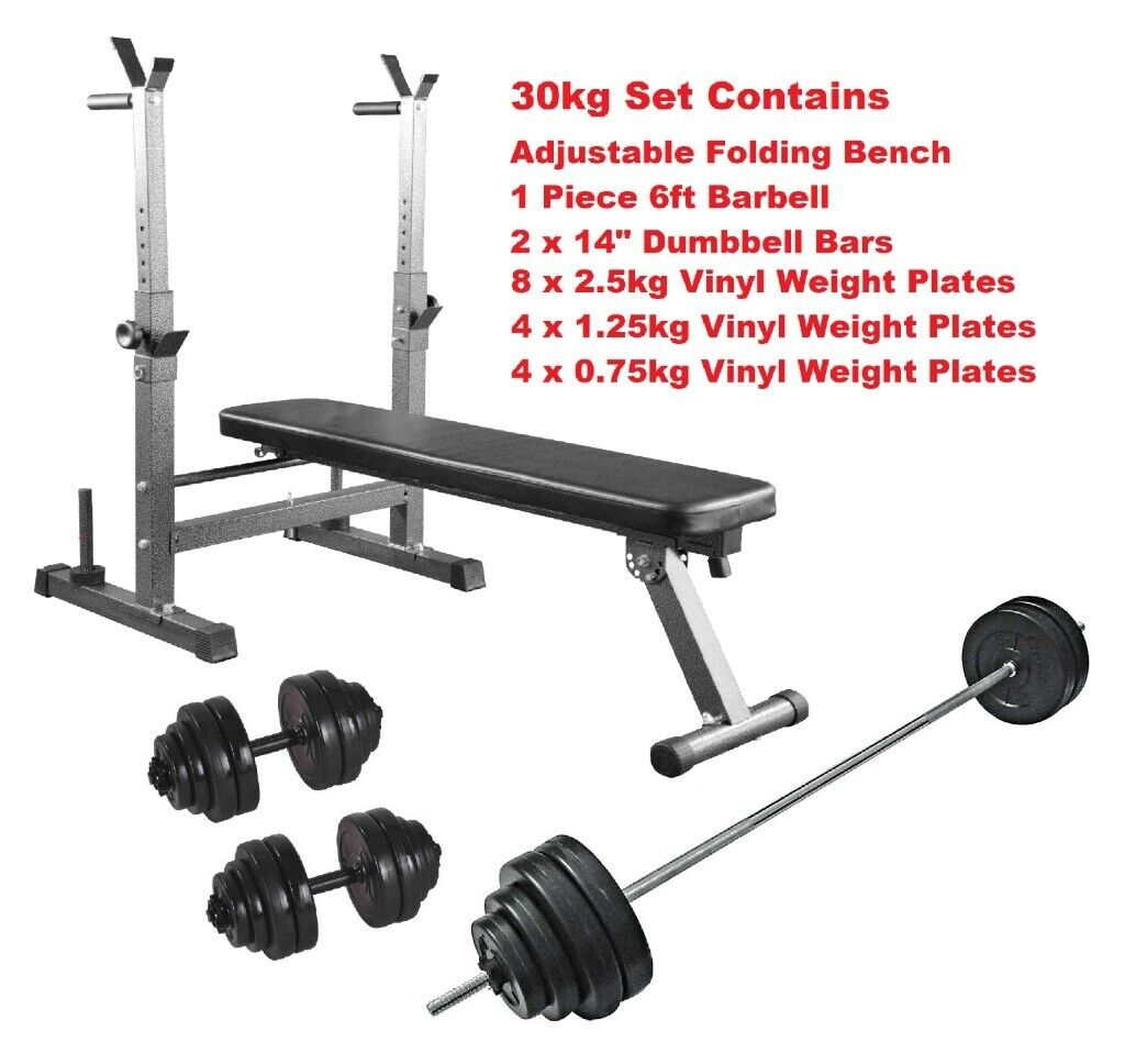 Complete Home Workout Set Adjustable Workout Bench Bars Weight Plates Brand New 90 00 In Appleton Cheshire Gumtree