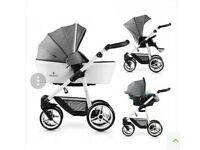 Venicci Pure Special Edition 3 in 1 Travel System - Denim Grey / White