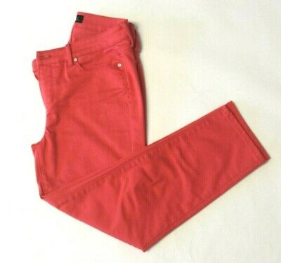 Talbots Flawless Five-Pocket Womens Size 4 Crop jeans pants bright coral melon Cropped Five Pocket Jeans