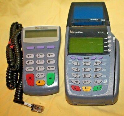 Verifone Vx510 Omni 5100 Credit Card Terminal Pinpad 1000se No Power Supply