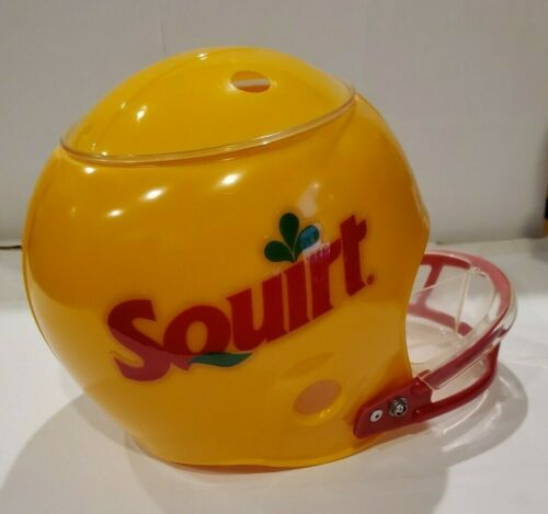 RARE Vintage SQUIRT SODA SNACK Dip Football HELMET Advertising  Collectible