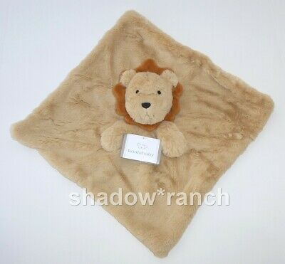 NWT Koala Baby Lion Security Blanket Thick Plush Brown Tan Lovey Rattle Toy
