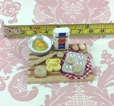 "Dollhouse Miniature Kitchen Food 2"" Baking Set Decor 1:12"