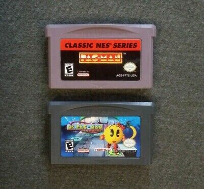 GBA 2 game lot Pac-Man / Maze Madness (Authentic Nintendo GBA) Tested