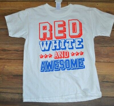RED WHITE and AWESOME Youth T-Shirt 4th of July USA Tee AMERICA PRIDE - Awesome 4th Of July Shirts