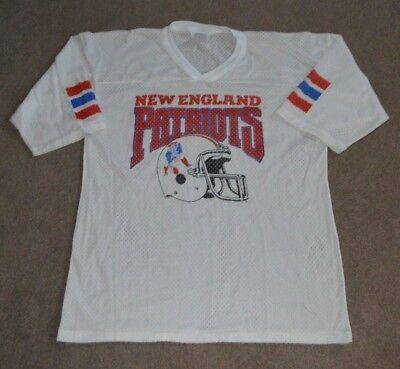 Vtg New England Patriots Garan NFL Football Jersey Large Retro 1980s Thin image