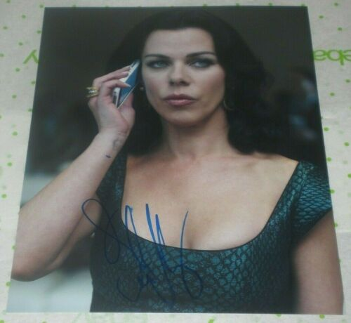 DEBI MAZAR SIGNED ENTOURAGE BUSTY BABE 8X10 PHOTO AUTOGRAPH COA YOUNGER SMUDGED