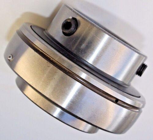 "Premium UC205-16  Insert Bearing 1"" Bore  w/Set Screws Re-lube Type Spherical OD"