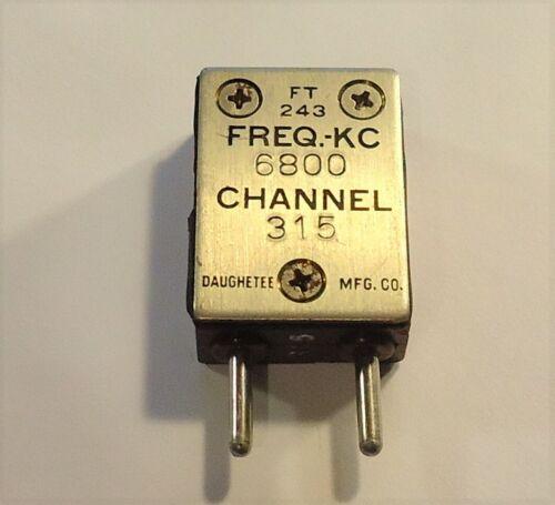 FT-243 Radio Crystal - 6800 KC - Daughetee - Channel 315 - .093 Pins