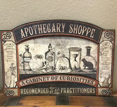 Bethany Lowe Halloween Apothecary Shoppe Tin Sign—Retired