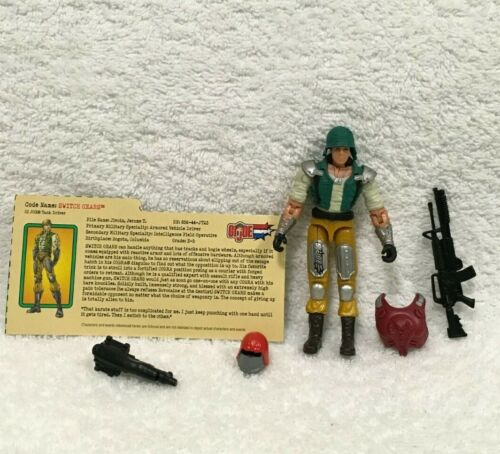 "GI Joe 3.75"" v Cobra SWITCH GEARS Tank Driver Spy Troops Vintage ARAH 2003 Retro"
