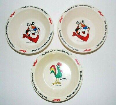 Vintage Kelloggs Cereal Bowls Set of 3 2 Tony Tiger 1 Corny 1995
