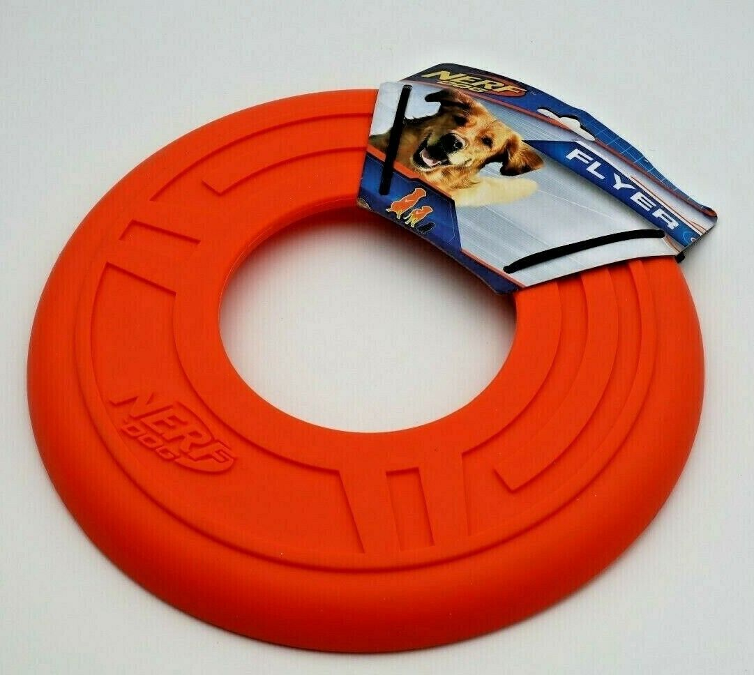 Nerf Dog Atomic Flyer Large Blue NEW L Pet 10 Inch Toy Disc