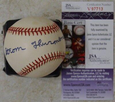 Strom Thurmond Signed Official AL Baseball w/ JSA #V97713 Senator South Carolina