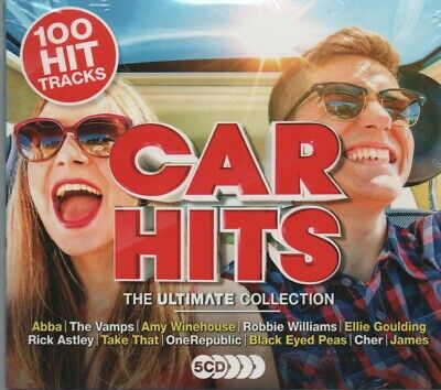 V/A Car Hits the ultimate collection 2018 5 CDS, Abba/Cher etc New/Sealed