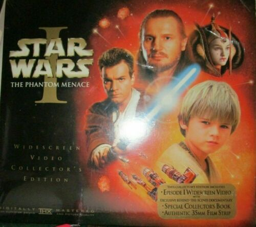 Star Wars The Phantom  Menace Episode I Video, Film Strip & Book NEW