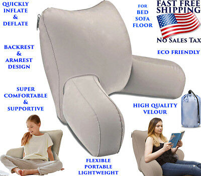 Comfort Reading Pillow (BED REST PILLOW READING TV INFLATABLE CUSHION COMFORTABLE BACK ARM SUPPORT)