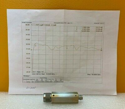 Microwave Semiconductor Corp Msc Mc65242 1.0 To 18 Ghz Noise Source. Tested