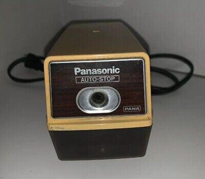 Vintage Panasonic Electric Pencil Sharpener Kp-100n With Auto Stop Pana - Tested