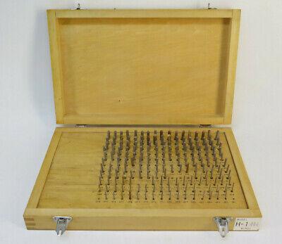 Hdt Minus Pin Gauge Set Model H-1 With Wooden Case