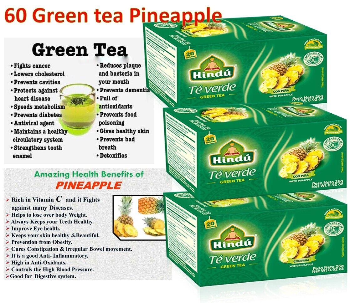 60 Tea Bags Green tea Digestive Fat burner Antioxidant Te Verde Lose Weight 5