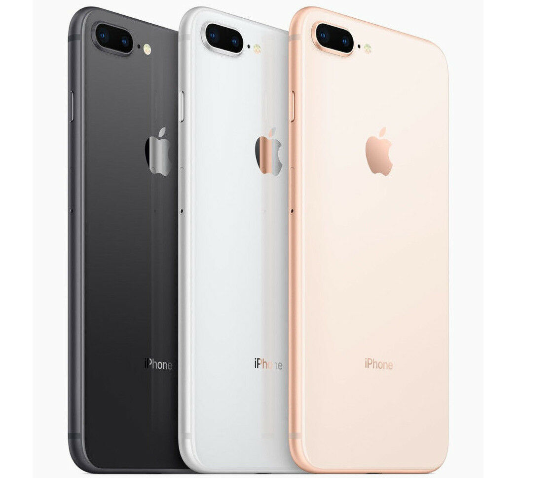 Unlocked Apple iPhone 8 Plus 64GB GSM Silver Gold AT&T T-mobile Metro Smartphone