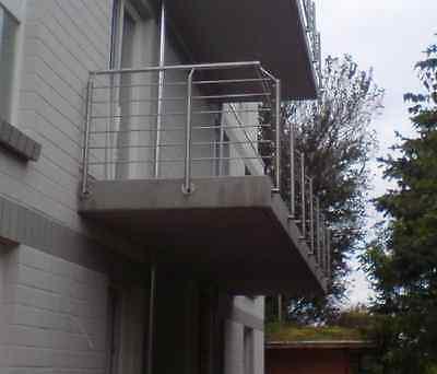Edelstahl Balkon Brüstung Terassen Geländer  12 Meter