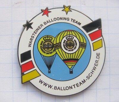 SCHWER / WARSTEINER BALLOONING TEAM  ... Bier-Ballon-Pin (125K)